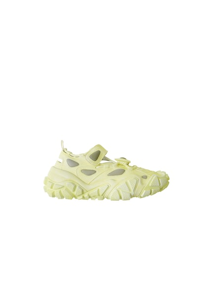 Open velcro sneakers banana yellow