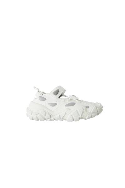 Open velcro sneakers white/white