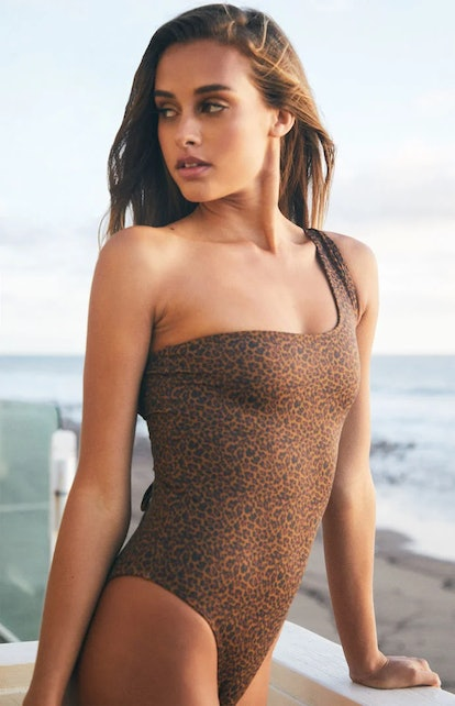 Kendall & Kylie Hampton One Shoulder One Piece Swimsuit