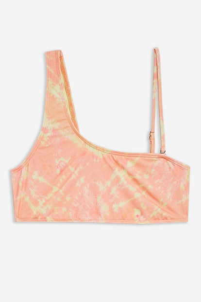 Tie Dye One Shoulder Bikini Crop Top