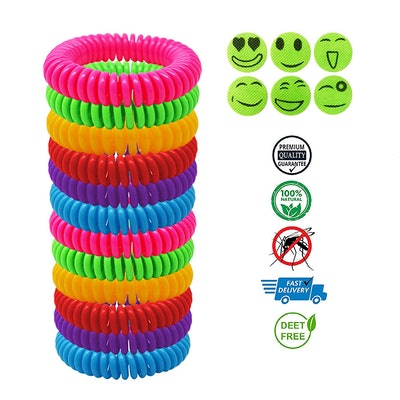 Wallaceu Mosquito Repellent Bracelet 12 Pack