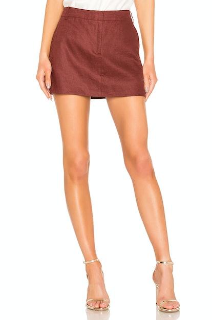 Tibi Canvas Mini Trouser Skirt