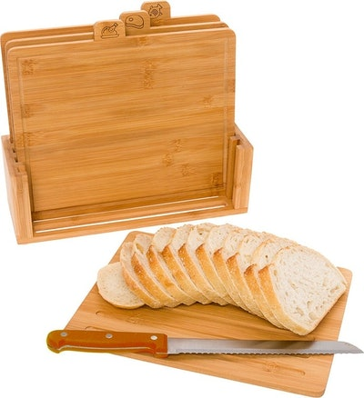 Bamboo Index Cutting Board Set