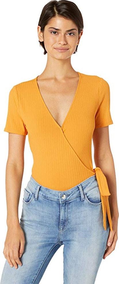 ASTR the Label Women's Wyatt Short Sleeve Bodysuit
