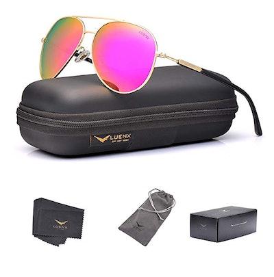 LUENX Polarized Aviator Sunglasses