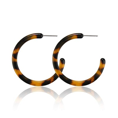 Pomina Marbled Acrylic Flat Hoop Earrings