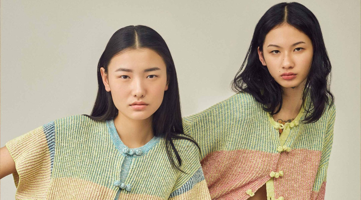 Models wearing YanYan clothing.