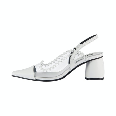 PVC Curved Middle Slingback / RK1-SH082