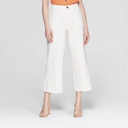 Mid-Rise Straight Leg Pants