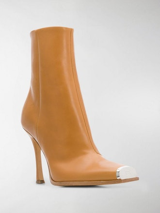 Square Toe Cap Ankle Boots