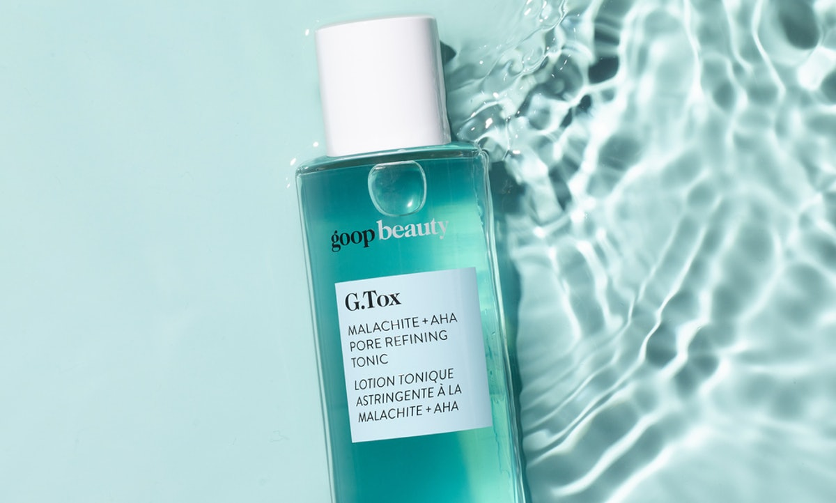 goop's G.Tox Malachite + AHA Pore Refining Tonic Both Softens & Clears Skin — Here's How