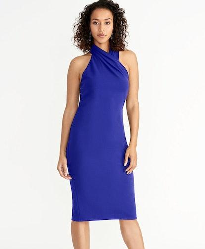 Harland Dress in Silk Blue