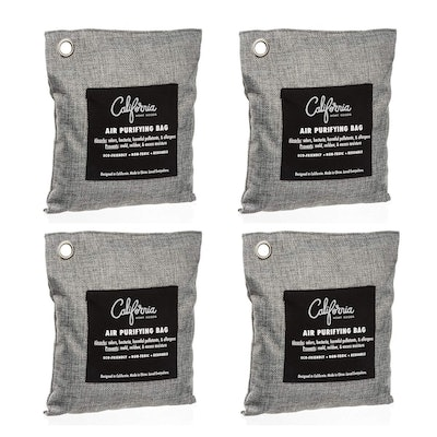 California Home Goods Bamboo Charcoal Air Purifying Bags (4 Pack)