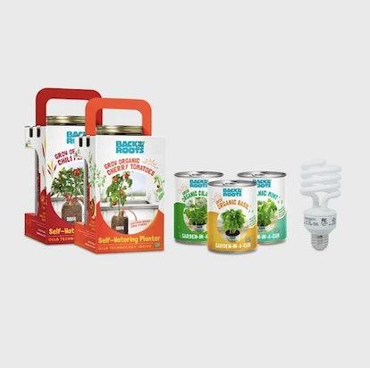 Herbs & Veggies Windowsill Complete Organic Grow Kit - Back to the Roots