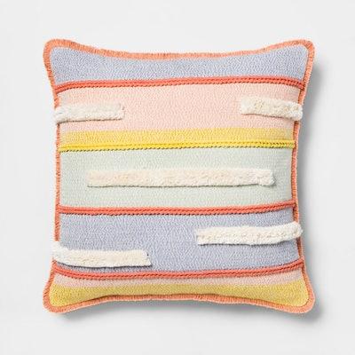 Opalhouse™ Textured Stripe Square Throw Pillow
