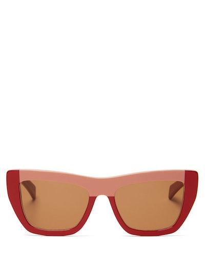 Colour-Block Acetate Sunglasses