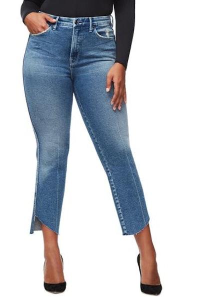 Good Curve Cascade Hem Jeans