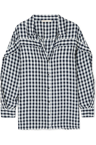 Ruffled Gingham Shirt