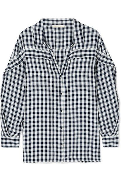 Ruffled Gingham Shirt