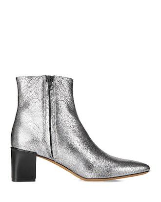 Lanica Metallic Leather Booties