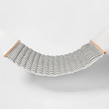 Linen Striped Pillow Top Hammock - Black/White - Threshold™