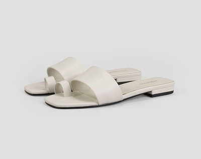 Becky Off White Sheep Leather Sandals