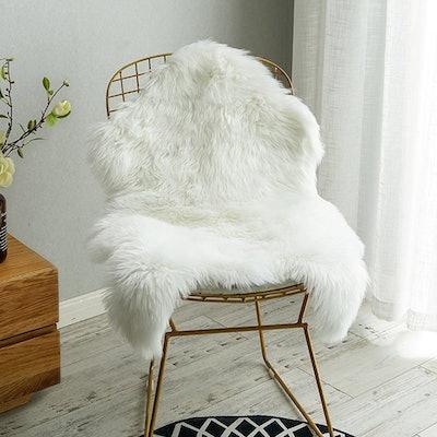 Carvapet Faux Sheepskin Chair Cover