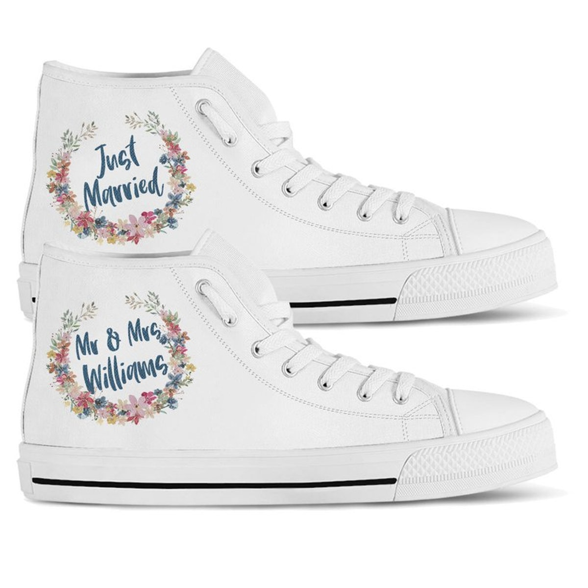 12 Personalized Wedding Sneakers, Because No Bride Wants Blisters On Her Big Day
