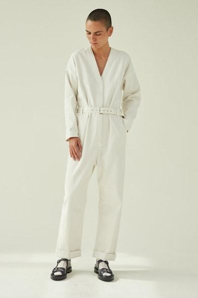White Glitch Jumpsuit