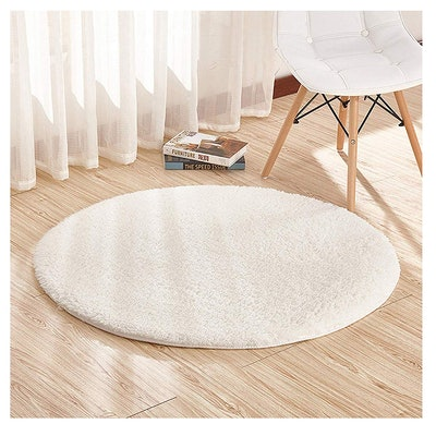 Furnily Round Shag Carpet