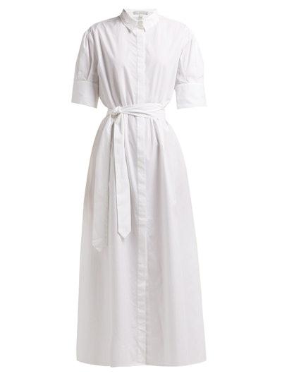 Antonia Tie-Fastening Cotton Shirtdress