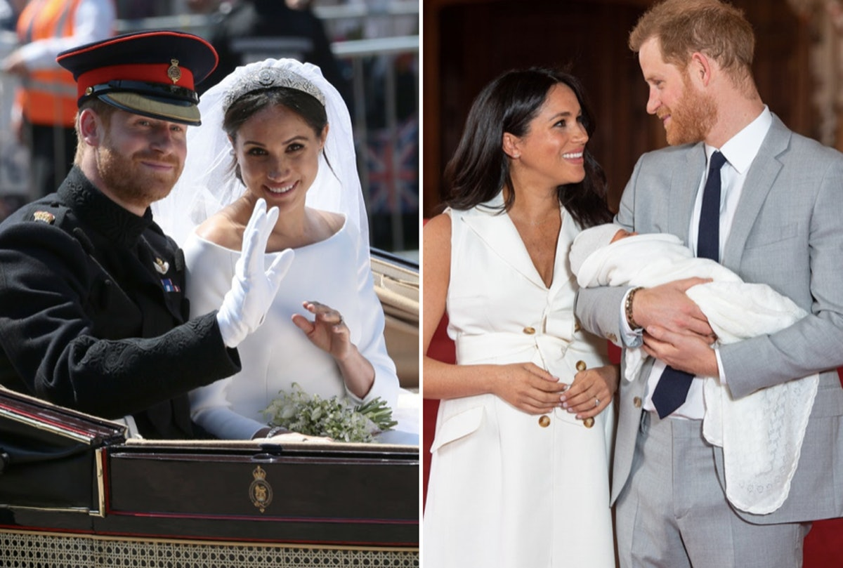 Photos Of Meghan Markle & Prince Harry's First Year Of Marriage Showcase Their Love & Adoration For Each Other