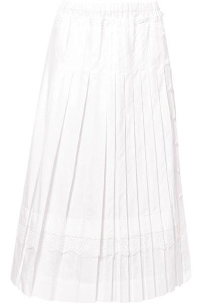 Broderie Mini Skirt