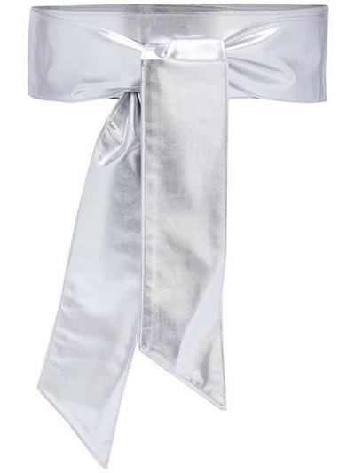 Metallic-Effect Tie-Up Belt