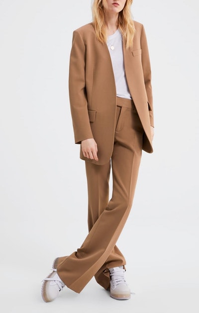 Blazer With Flap Pockets & Flared Pants