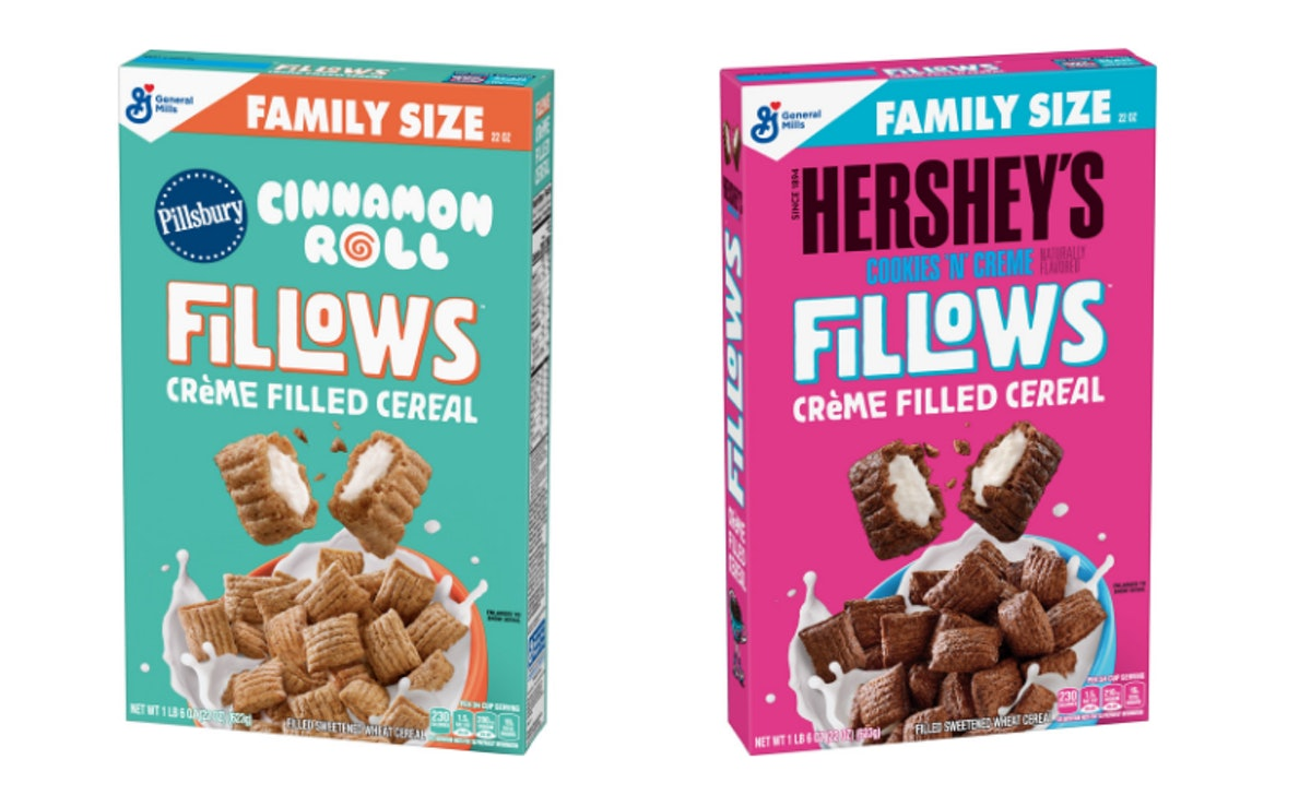 These Pillsbury Cinnamon Roll & Hershey's Fillows Cereals Are A Sweet Morning Update