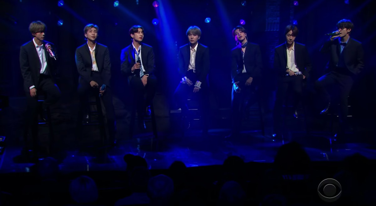 "This Video Of BTS' 'Colbert' Performance Of ""Make It Right"" Highlights Their Amazing Vocals"