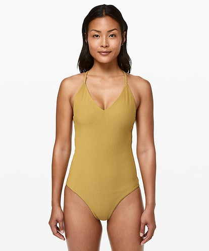Poolside Pause One-Piece in Vintage Gold