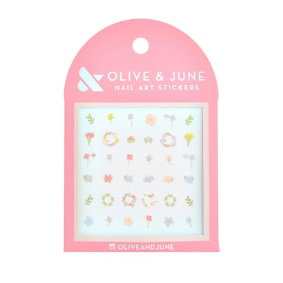 Olive & June In Bloom Nail Art Stickers - 36ct