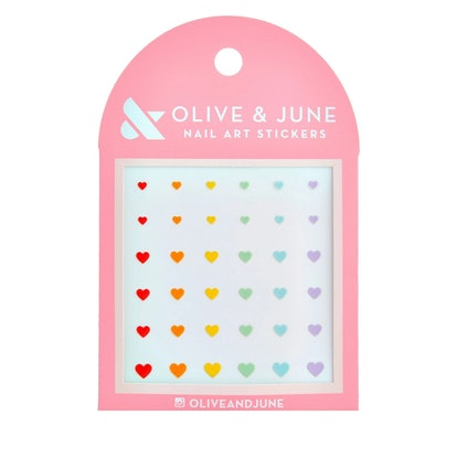 Olive & June Rainbow Bright Nail Art Stickers - 36ct