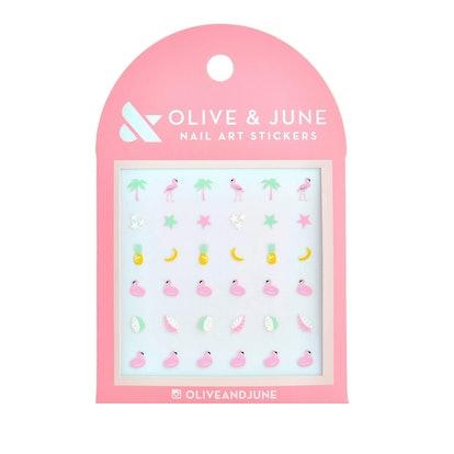 Olive & June Cabana Crush Nail Art Stickers - 36ct