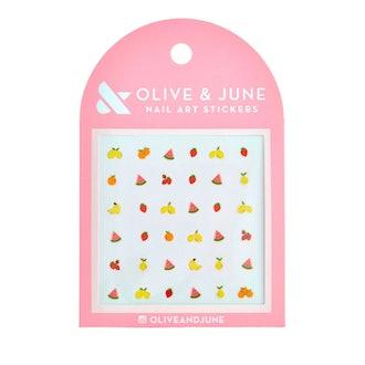 product description page Olive & June Fruit Salad Nail Art Stickers - 36ct
