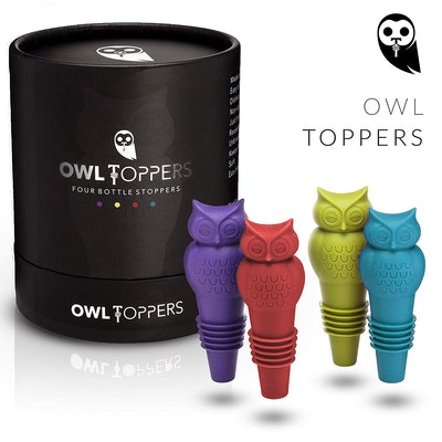 Owltoppers Bottle Stoppers (Set of 4)