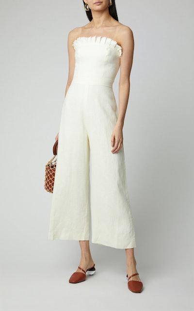 Eleri Belted Linen Jumpsuit