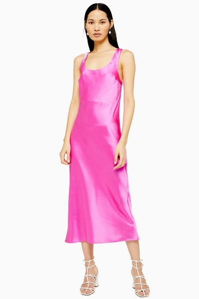 Pink Built Up Slip Dress