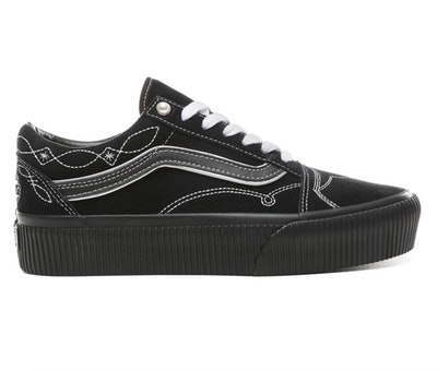 Pearly Punk Old School Platform Shoes