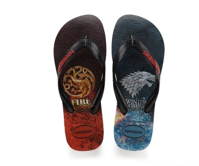 Women's Top 'Game of Thrones' Flip Flops Black