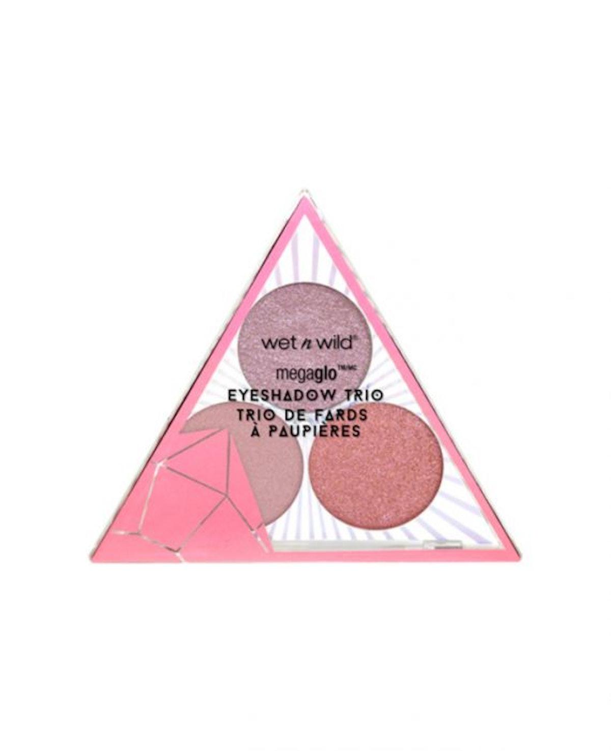 Crystal Cavern Mega Glo Eyeshadow Trio- Rose Quartz