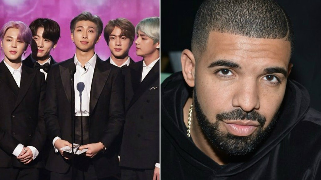 This Photo Of BTS & Drake At The 2019 BBMAs Has ARMYs Screaming