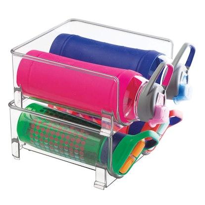 mDesign Plastic Water Bottle Organizer (2 Pack)